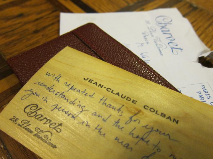 La Carte De Visite Jean Claude Colban Est Merveilleuse Simplicite Et Gout Ingenieux